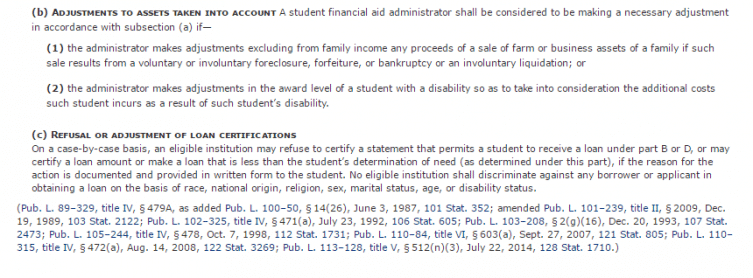 Special Circumstances Financial Aid Letter Example from www.collegechoice.net
